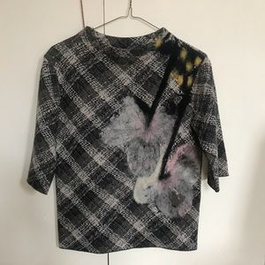 Abstract flower sweater